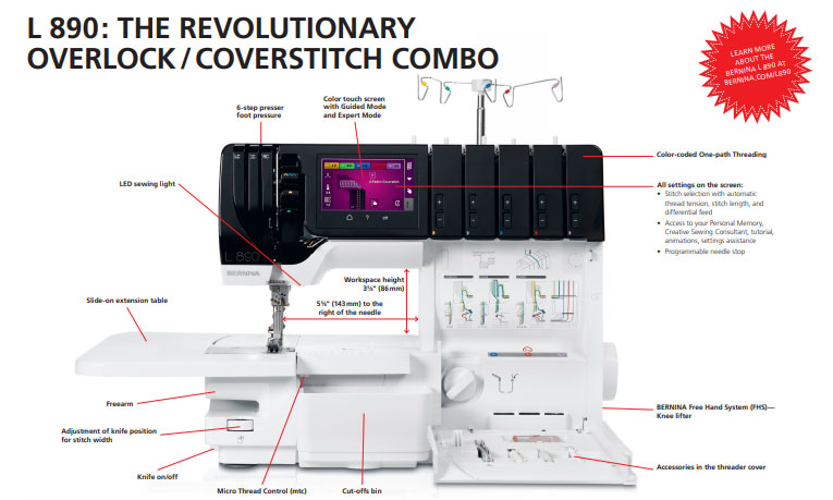 Bernina L890 Overlock and Coverstitch Serger